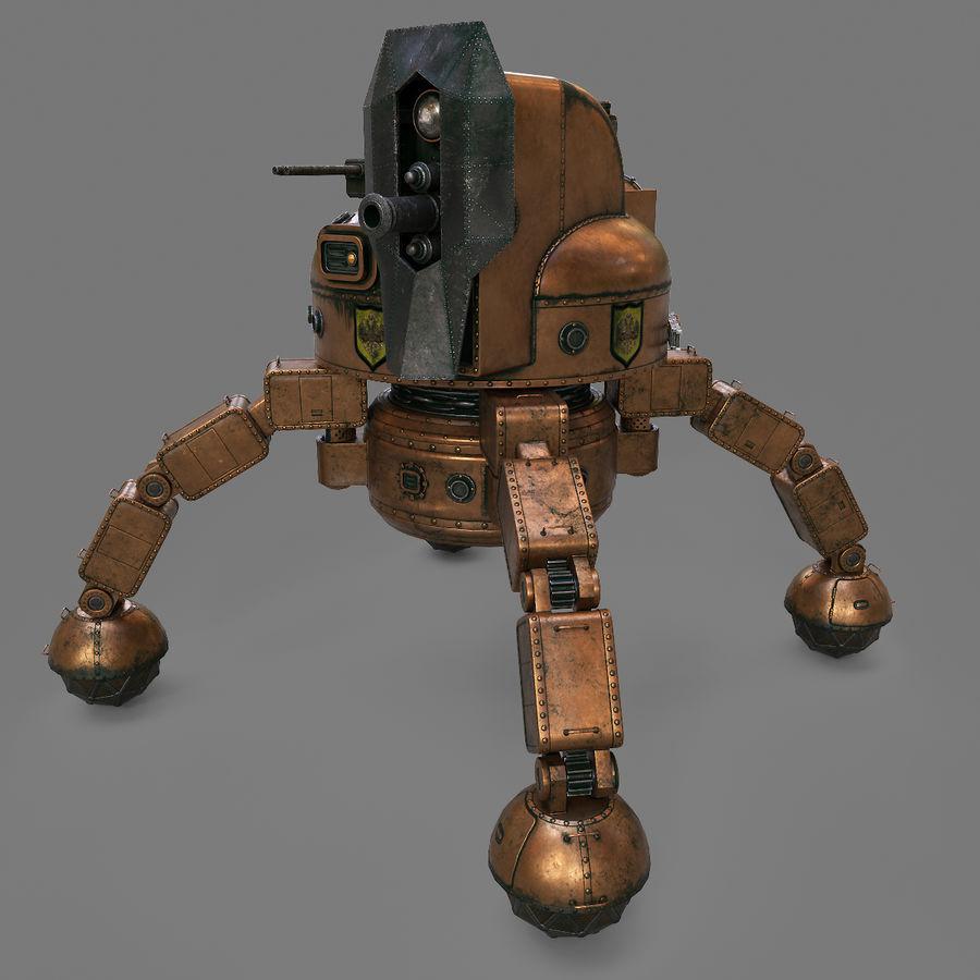 Bot Steampunk royalty-free 3d model - Preview no. 6