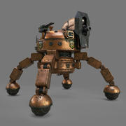 Steampunk Bot 3d model