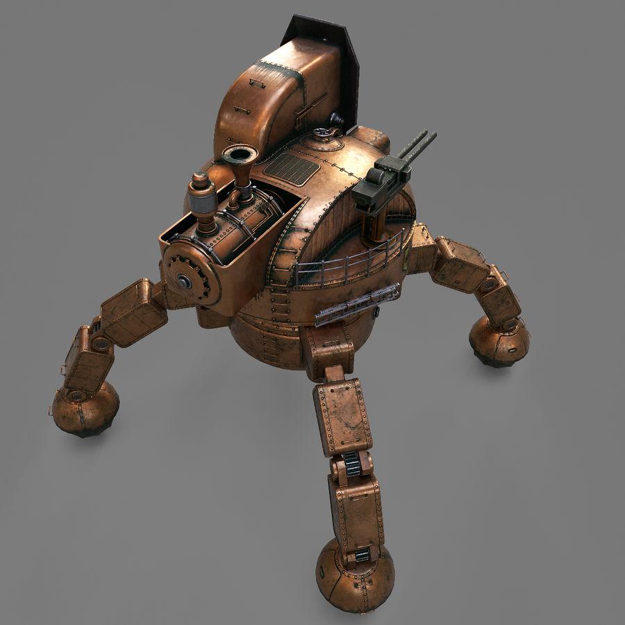 Bot Steampunk royalty-free 3d model - Preview no. 5