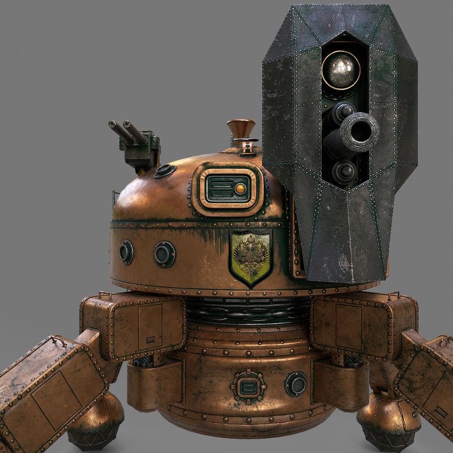 Bot Steampunk royalty-free 3d model - Preview no. 10