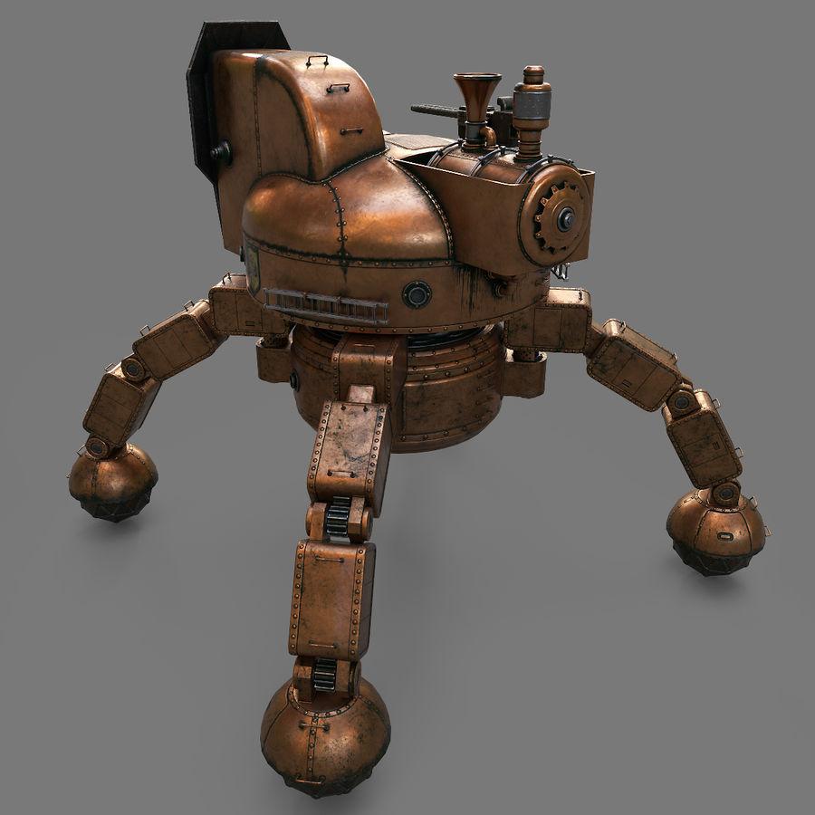 Bot Steampunk royalty-free 3d model - Preview no. 11