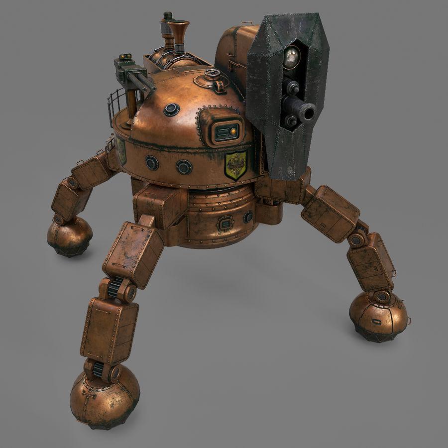 Bot Steampunk royalty-free 3d model - Preview no. 7