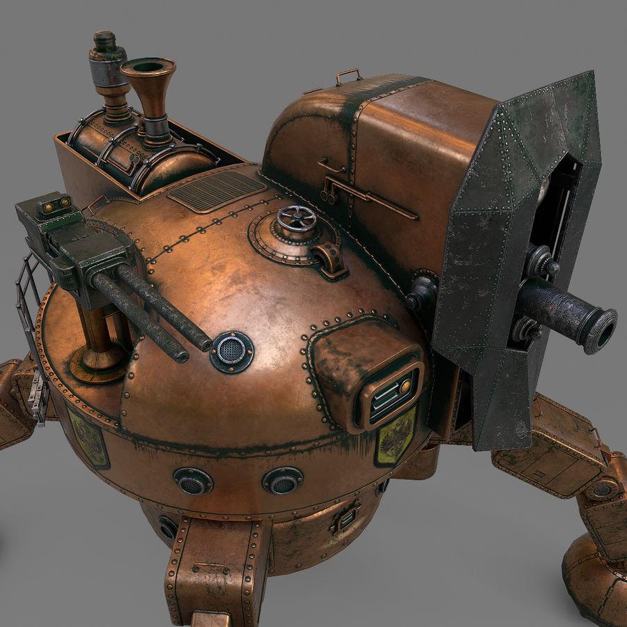 Bot Steampunk royalty-free 3d model - Preview no. 9