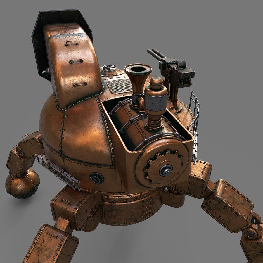 Bot Steampunk royalty-free 3d model - Preview no. 12