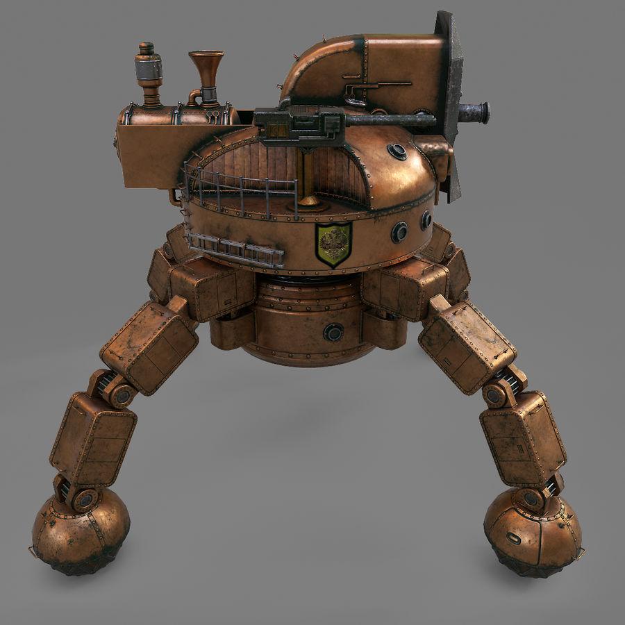 Bot Steampunk royalty-free 3d model - Preview no. 4