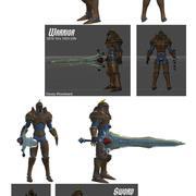 CS Warrior and Sword 3d model