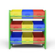 Kid's Storage Box Shelf System - Jongens 3d model