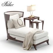 Chaise Baker Atrium 3d model