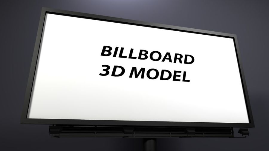 billboard royalty-free 3d model - Preview no. 2