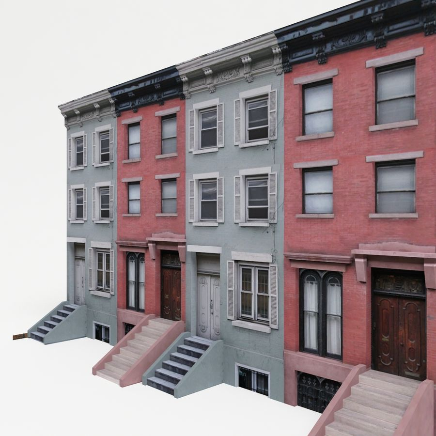 City Building Block royalty-free 3d model - Preview no. 5