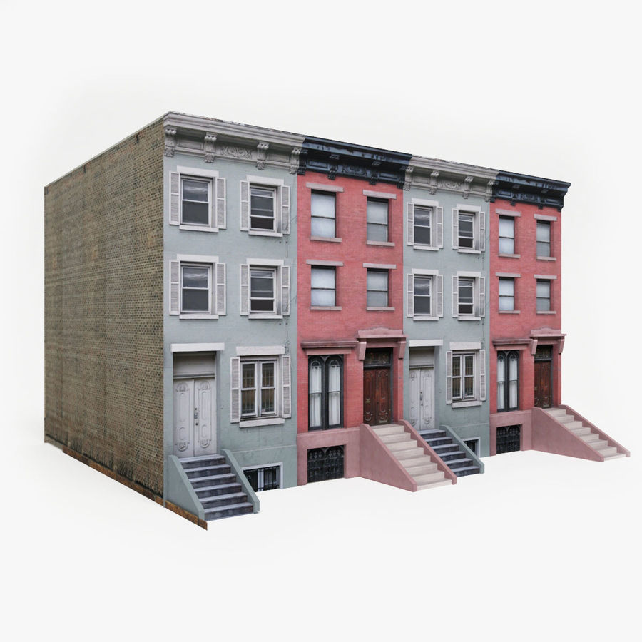 City Building Block royalty-free 3d model - Preview no. 1