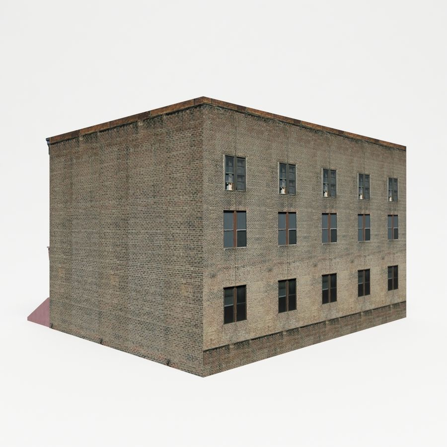 City Building Block royalty-free 3d model - Preview no. 3