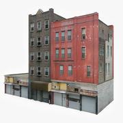 Apartment Building Block X 3d model