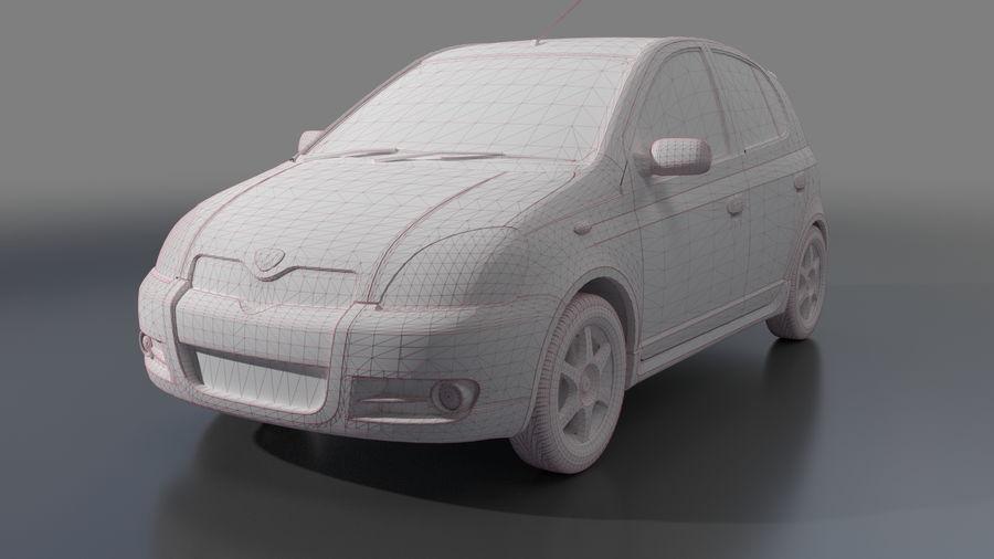 トヨタヴィッツ2004 royalty-free 3d model - Preview no. 5