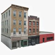 Apartment Building Block IX 3d model