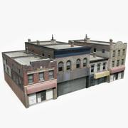 Apartment Building Block V 3d model