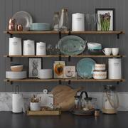 Kitchen decor set 3d model