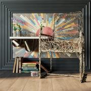 "Conjunto de decoração ""Copper Sun"" 3d model"