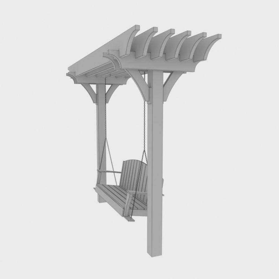 Bahçe salıncak royalty-free 3d model - Preview no. 8