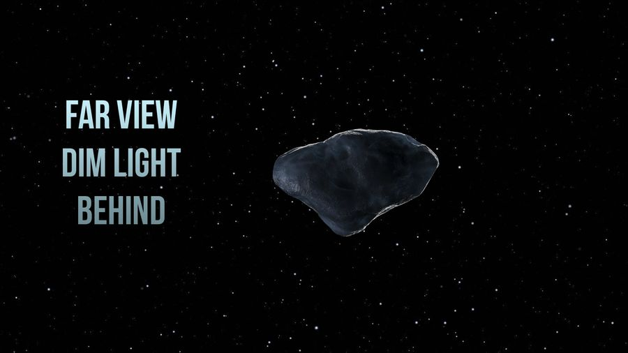 Icy Asteroid royalty-free 3d model - Preview no. 8