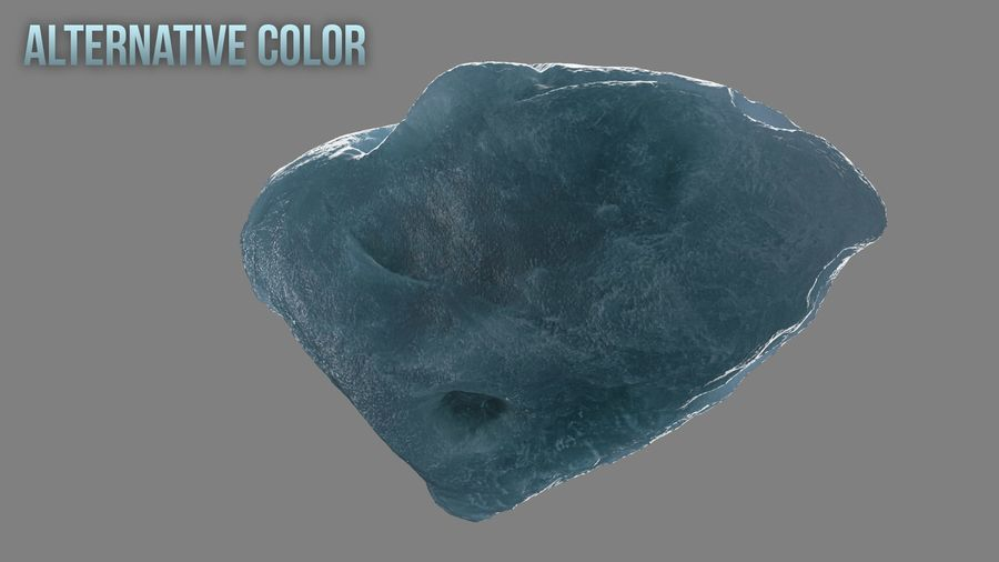 Icy Asteroid royalty-free 3d model - Preview no. 14