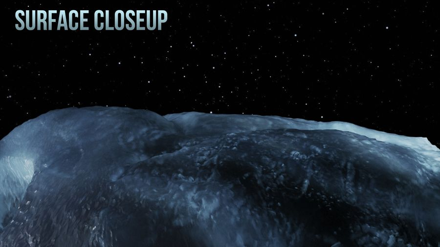 Icy Asteroid royalty-free 3d model - Preview no. 5
