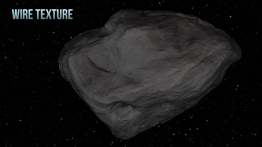 Icy Asteroid royalty-free 3d model - Preview no. 18