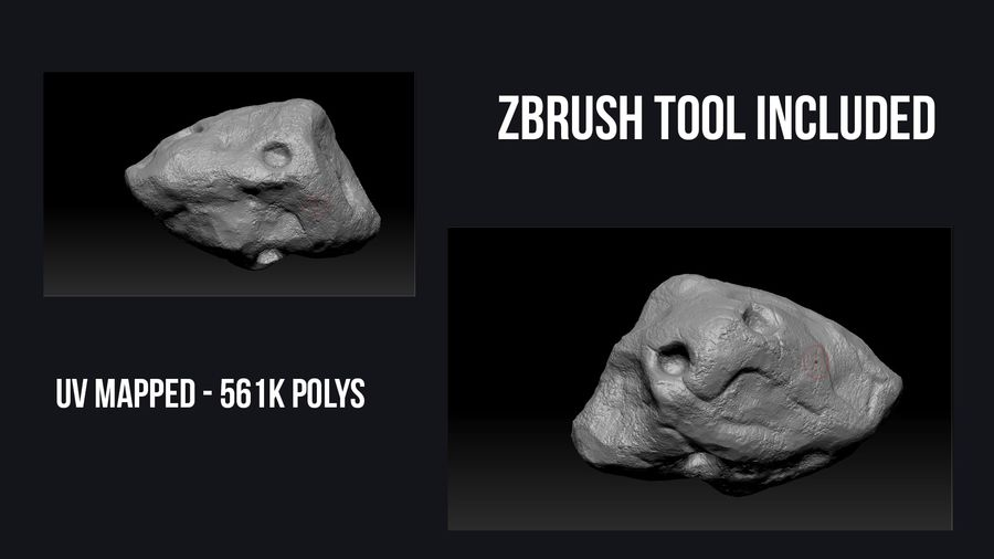 Icy Asteroid royalty-free 3d model - Preview no. 11