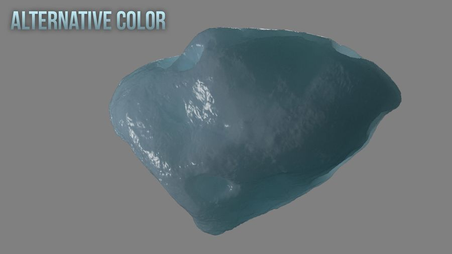 Icy Asteroid royalty-free 3d model - Preview no. 12