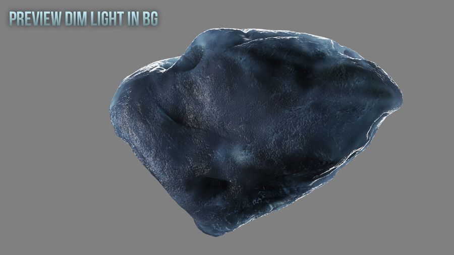 Icy Asteroid royalty-free 3d model - Preview no. 2
