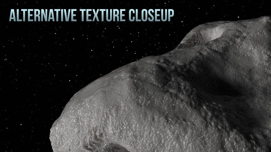 Icy Asteroid royalty-free 3d model - Preview no. 15