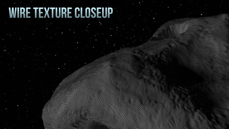 Icy Asteroid royalty-free 3d model - Preview no. 16