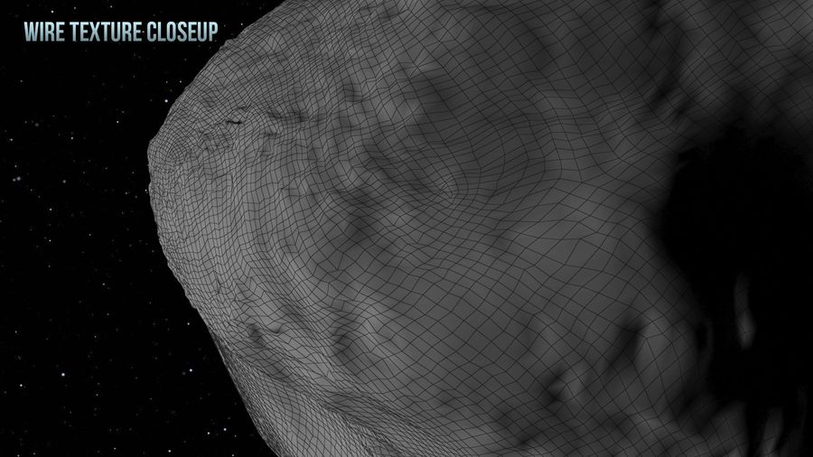 Icy Asteroid royalty-free 3d model - Preview no. 17