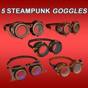 Steampung Glasses 3d model
