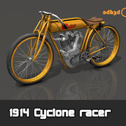1914 Cyclone racer 3d model