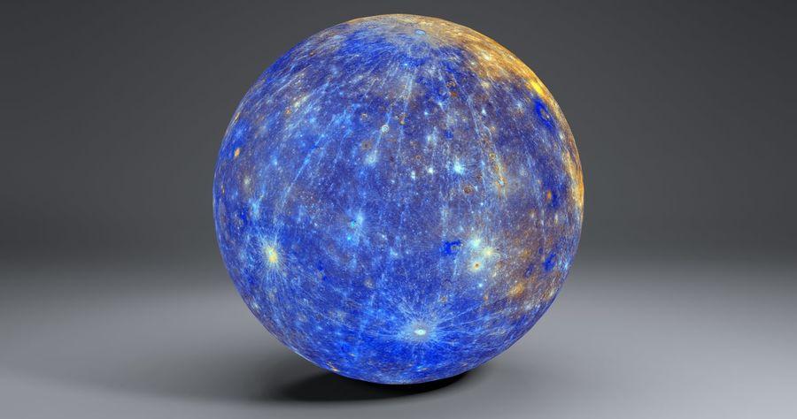 Mercury 11k Globe royalty-free 3d model - Preview no. 5