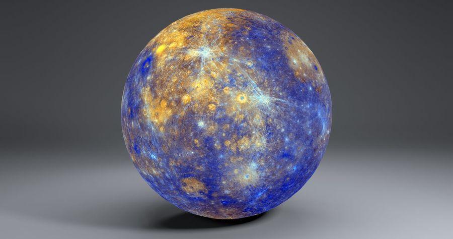 Mercury 11k Globe royalty-free 3d model - Preview no. 8