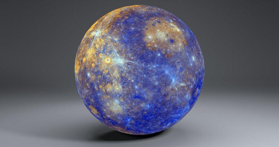 Mercury 11k Globe royalty-free 3d model - Preview no. 9