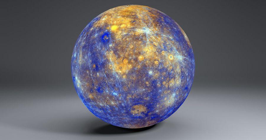 Mercury 11k Globe royalty-free 3d model - Preview no. 7