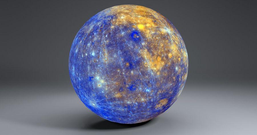 Mercury 11k Globe royalty-free 3d model - Preview no. 6