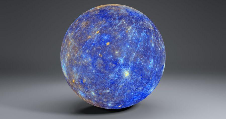 Mercury 11k Globe royalty-free 3d model - Preview no. 3