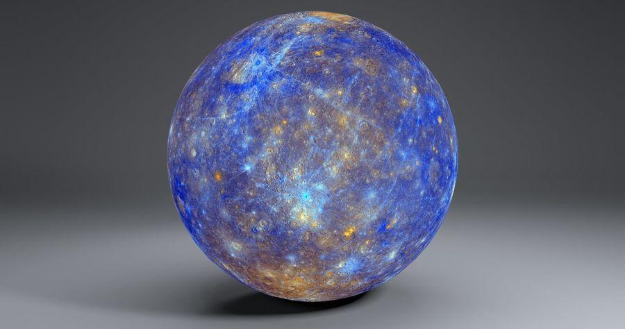 Mercury 11k Globe royalty-free 3d model - Preview no. 1