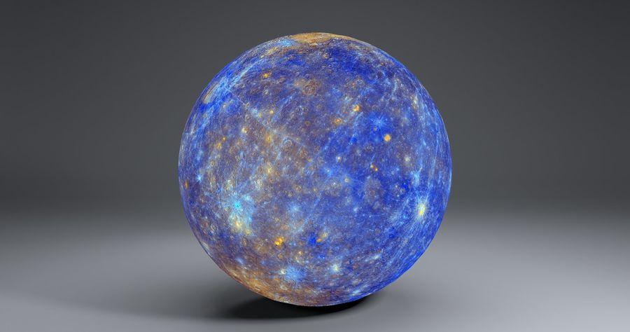 Mercury 11k Globe royalty-free 3d model - Preview no. 2