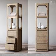 RH MARTENS MEDIUM BATH CABINET 3d model