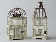 Старинные декоративные птичьи клетки 3d model