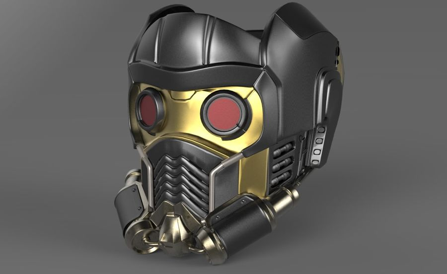 star lord mask royalty-free 3d model - Preview no. 1