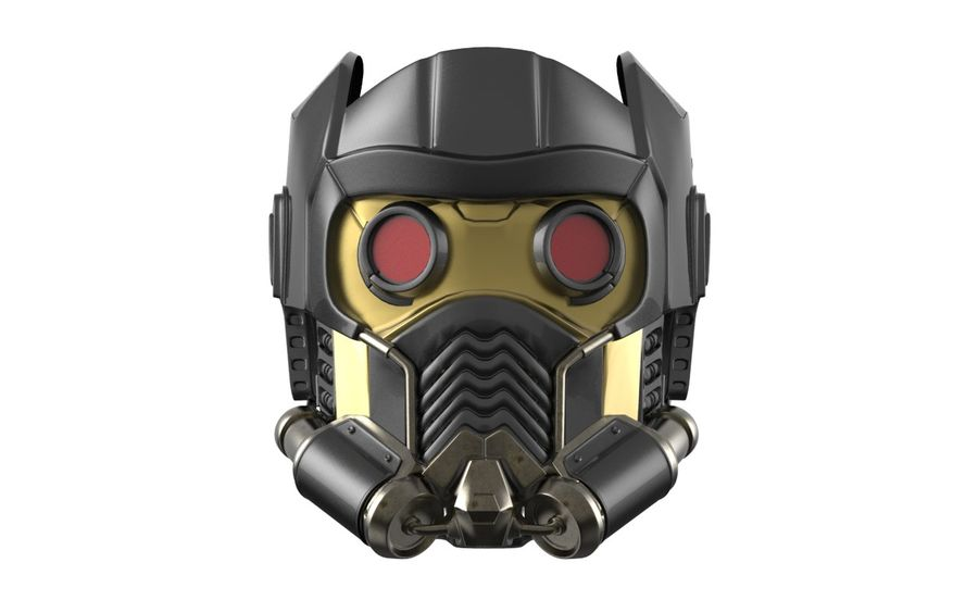star lord mask royalty-free 3d model - Preview no. 8
