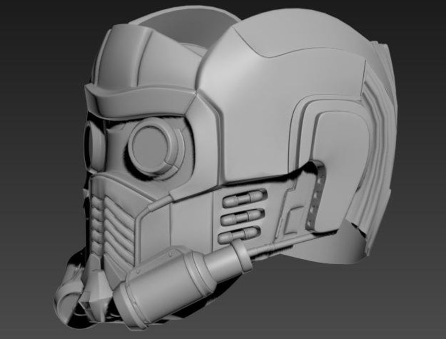 star lord mask royalty-free 3d model - Preview no. 6