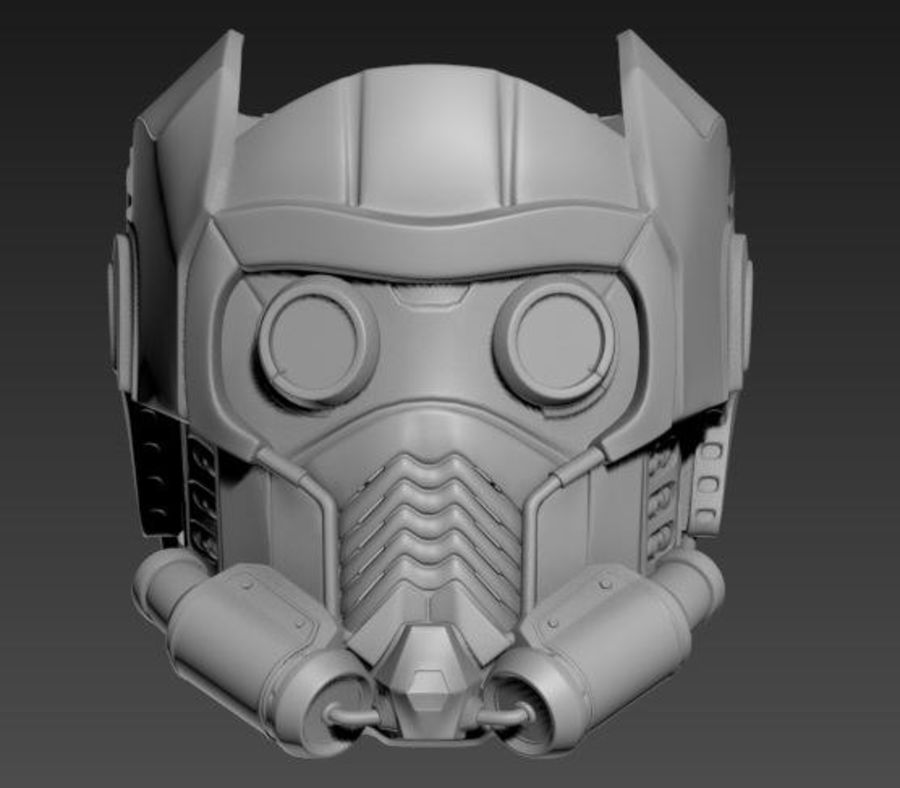 star lord mask royalty-free 3d model - Preview no. 5