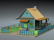 Çizgi film evi 3d model